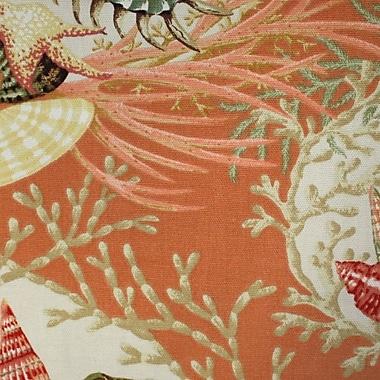 Bay Isle Home Cypress 24'' Swivel Bar Stool; Seaworthy Coral Red