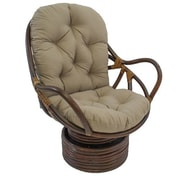 Bay Isle Home Tobago Swivel Rocker Chair; Toffee