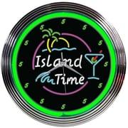 Bay Isle Home 15'' Island Time Neon Clock