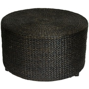 Bay Isle Home Horsetail Rush Grass Coffee Table/Ottoman; Black