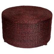 Bay Isle Home Horsetail Rush Grass Coffee Table/Ottoman; Red Brown