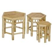 Bay Isle Home Porter 3 Piece Bamboo Nesting Stool Set