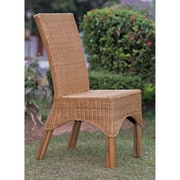 Bay Isle Home Staples Rattan Dining Chair w/ Rattan Pole Legs
