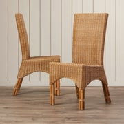 Bay Isle Home Staples Rattan Dining Chair w/ Rattan Pole Legs (Set of 2)