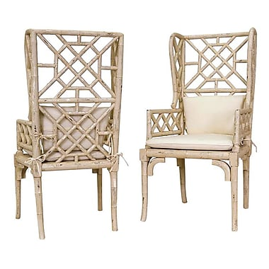 Bay Isle Home Constantia Wing Back Arm Chair (Set of 2)