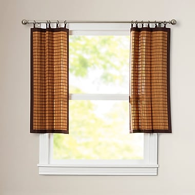 Bay Isle Home Pelico Tier Curtain; 36''Lx48''W