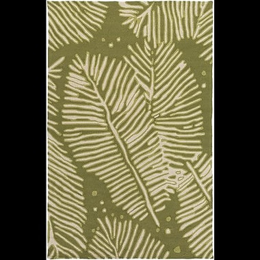 Bay Isle Home Acosta Hand-Tufted Olive/Ivory Indoor/Outdoor Area Rug; 8' x 10'