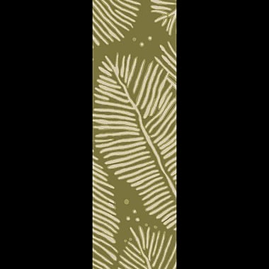 Bay Isle Home Acosta Hand-Tufted Olive/Ivory Indoor/Outdoor Area Rug; Runner 2'6'' x 8'