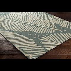 Bay Isle Home Acosta Hand-Tufted Slate/Ivory Indoor/Outdoor Area Rug; 5' x 7'6''
