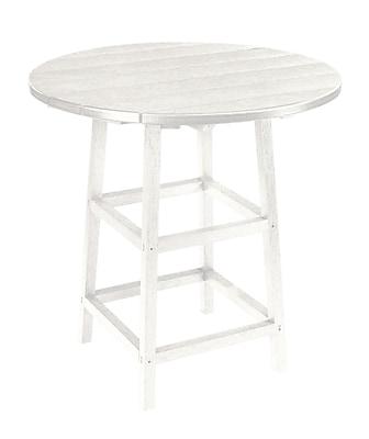 Bay Isle Home Trinidad Bar Table; White