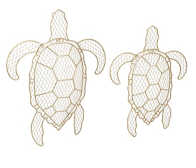 Bay Isle Home 2 Piece Tortuga Wire Turtle Wall Decor Set WYF078280251271