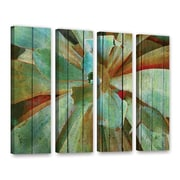 Bay Isle Home Summer Succulent 4 Piece Painting Print on Wrapped Canvas Set; 24'' H x 32'' W x 2'' D