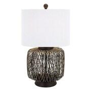Bay Isle Home Kona Bamboo Woven 28'' Table Lamp