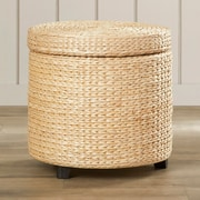 Bay Isle Home Horsetail Storage Ottoman; Natural
