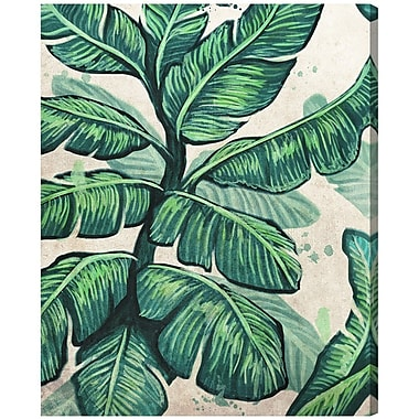 Bay Isle Home Banana Leaves Painting Print on Wrapped Canvas; 20'' H x 16'' W