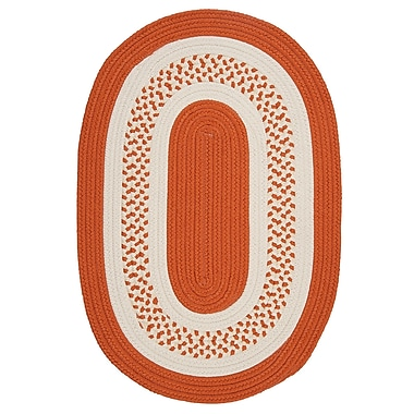 Bay Isle Home Rockport Orange Indoor/Outdoor Rug; Oval Runner 2' x 10'
