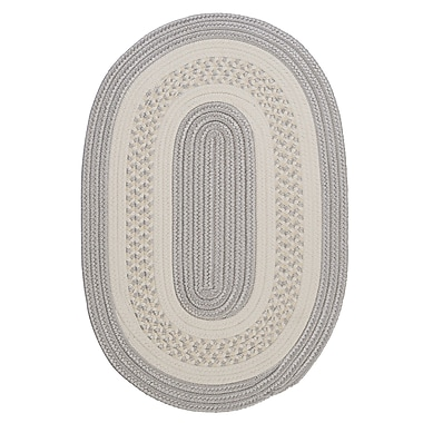 Bay Isle Home Rockport Silver Indoor/Outdoor Area Rug; Oval 2' x 4'