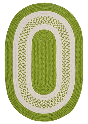 Bay Isle Home Rockport Bright Green Indoor/Outdoor Rug; Oval 2' x 3'
