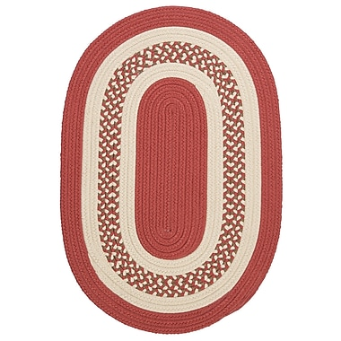 Bay Isle Home Rockport Terracotta Indoor/Outdoor Rug; Round 4'