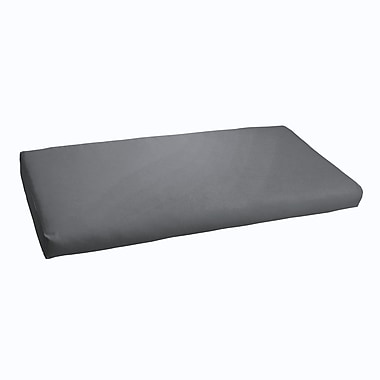 Brayden Studio Indoor/ Outdoor Bench Cushion; Charcoal