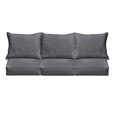 Bay Isle Home Pillow and Cushion 6-pc Sofa Cushion; Charcoal