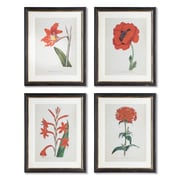 Bay Isle Home Spring Florals 4 Piece Framed Graphic Art Set