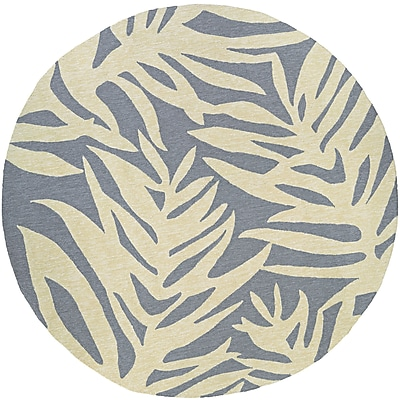 Bay Isle Home Wallingford Hand-Woven Gray/Beige Indoor/Outdoor Area Rug; 2' x 4'