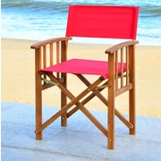 Bay Isle Home Dobson Director Arm Chair (Set of 2); Red