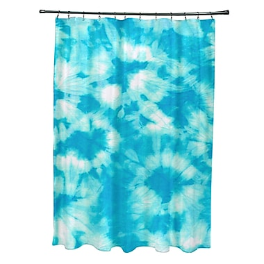 Bay Isle Home Pembrook Polyester Chillax Geometric Shower Curtain; Turquoise