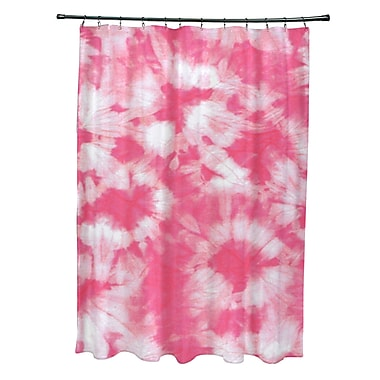 Bay Isle Home Pembrook Polyester Chillax Geometric Shower Curtain; Pink