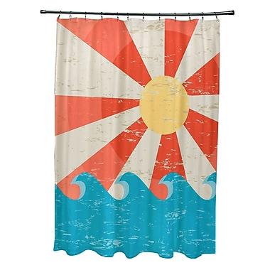 Bay Isle Home Pembrook Polyester Sunbeams Geometric Shower Curtain; Orange