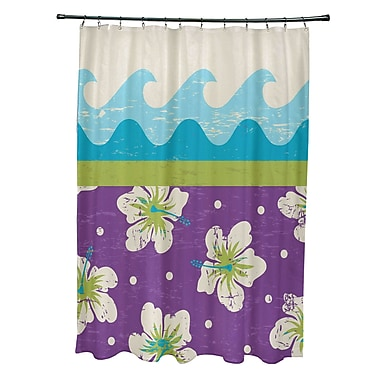 Bay Isle Home Pembrook Polyester Floral Shower Curtain; Light Green