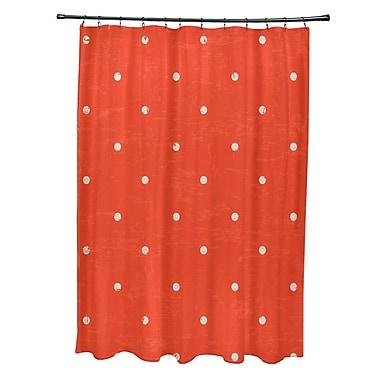 Bay Isle Home Pembrook Polyester Dorothy Dot Geometric Shower Curtain; Orange
