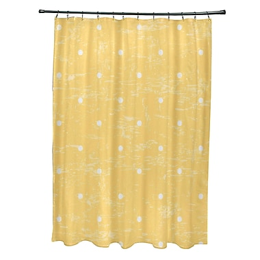 Bay Isle Home Pembrook Polyester Dorothy Dot Geometric Shower Curtain; Yellow