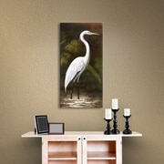 Bay Isle Home Snowy Egret I Painting Print on Canvas; 48'' H x 24'' W x 2'' D