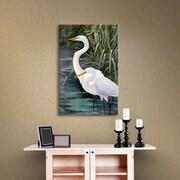 Bay Isle Home Snowy Egrets II Photographic Print on Canvas; 08'' x 10''