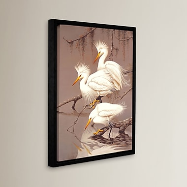 Bay Isle Home Great White Herons Framed Photographic Print on Canvas; 08'' x 10''