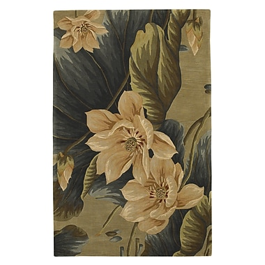 Bay Isle Home Murray Floral Vision Sage Area Rug; 5'3'' x 8'3''