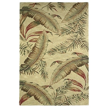Bay Isle Home Murray Ivory Ferns Area Rug; 8'6'' x 11'6''