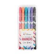 Erin Condren Dual Tip Markers, Bold Brights, 6 pack (ACC- DLTIP MRKR)