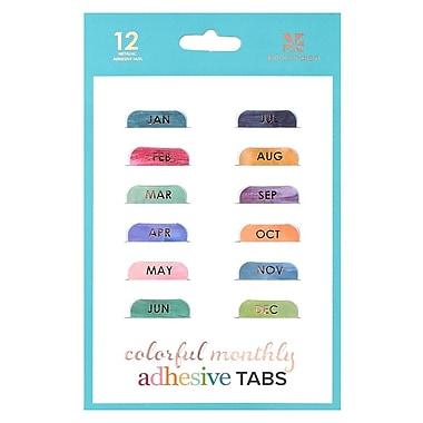 Erin Condren Mini Monthly Adhesive Tabs, 12/Pack (ACC MADHSVTB)