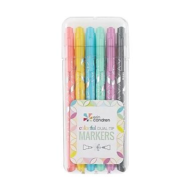 Erin Condren Dual Tip Markers, Pastels, 6 pack (ACC DLTP MRKR1)