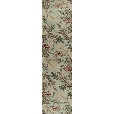 Bay Isle Home Murray Sage Tropical Branches Area Rug; Runner 2'6'' x 10'