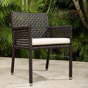 Bay Isle Home Marianna Dining Arm Chair w/ Cushion; Off-White