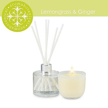 Aromabotanical – Ensemble-cadeau avec bougie au parfum de citronnelle et de gingembre + diffuseur (16-AB/SET LG)