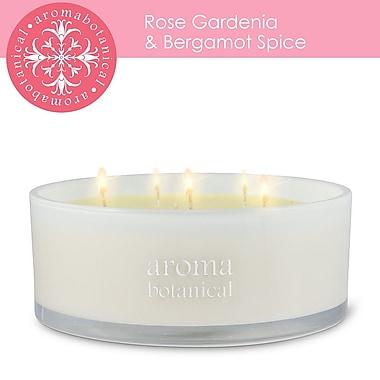 Aromabotanical 6 Wick Rose, Gardenia & Bergamot Spice Candle (16-AB/200 RG )