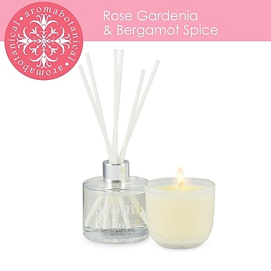 Aromabotanical Piece Rose, Gardenia & Bergamot Giftset Candle+Diffuser (16-AB/SET RG )