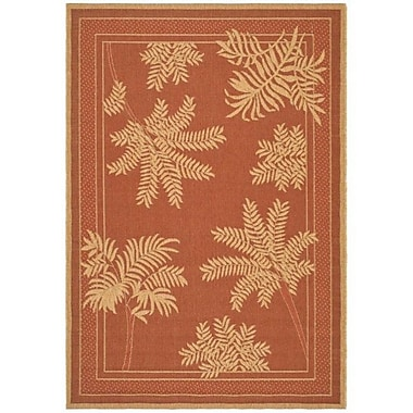 Bay Isle Home Amaryllis Light Brick Outdoor Rug; 5'3'' x 7'7''