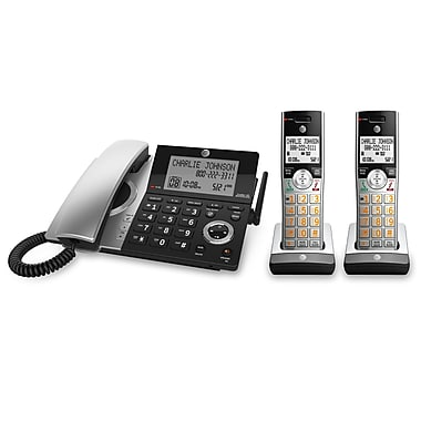 AT&T 2-Handset Corded/Cordless Answering System with Dual Caller ID/Call Waiting (CL84207)