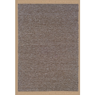 Bay Isle Home Landenberg Hand-Woven Brown/Blue Area Rug; 3'6'' x 5'6''